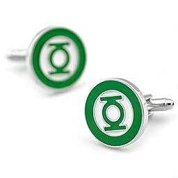 Sirius Jewelry Mens Cufflinks Super Hero Green Lantern Cufflinks for Men with Nice Box