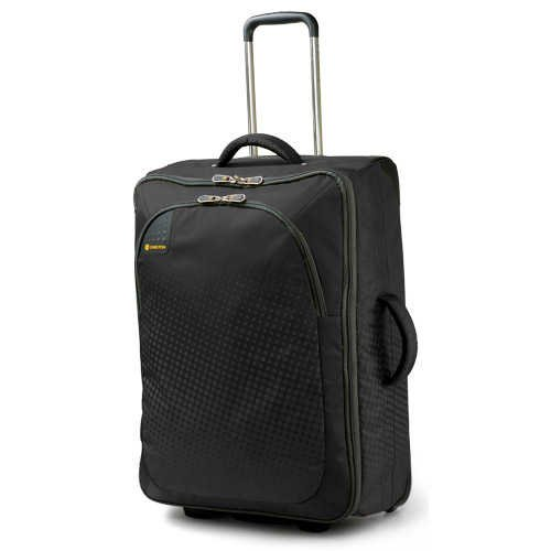 Carlton Tribe Black Travel Case 50cm with Trolley System H 50cm W 38cm D 20cm. Carry On Hand Luggage