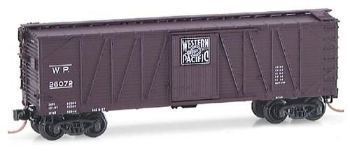 Micro Trains N 28170: 40' Outside Braced Box Car, Single Door, Western Pacific WP#26072