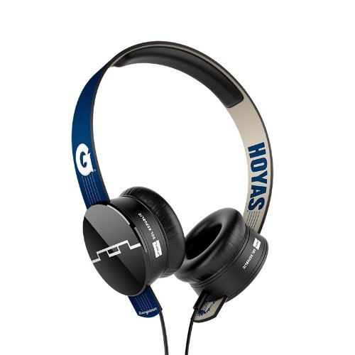 Sol Republic 1211-Gtu Collegiate Series Tracks On-Ear Headphones With Three Button Remote And Microphone - Georgetown