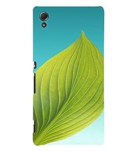 PrintVisa Leaf Design 3D Hard Polycarbonate Designer Back Case Cover for Sony Xperia Z4