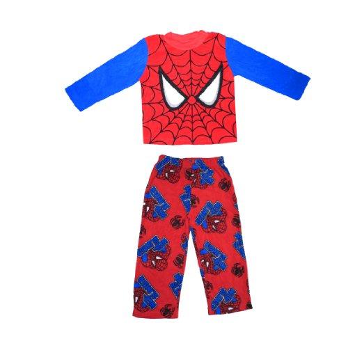 2 PCS SET: Boys Or Girls Spider-Man Fleece Sleepwear Pajama Top & Pants Set