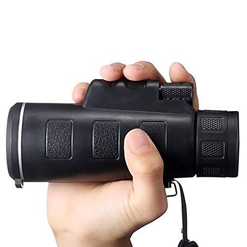wangsaura® Portable 35x 5040x 60ZOOM Monoculaire Vision Nocturne BK4réglable Camping Voyage Télescope 35 x 50