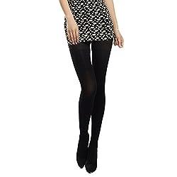(Wool-LegBlack) Madaam Women's Opaque Autumn Winter PantyHose Stockings
