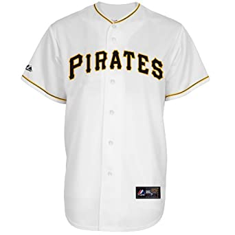 MLB Pittsburgh Pirates Neil Walker White Home Replica Baseball Jersey, White by Majestic