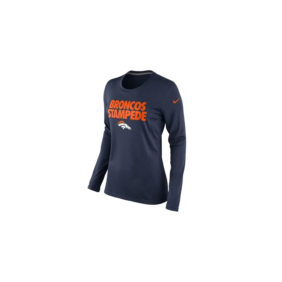 Denver Bronco Clothing Nike Denver Broncos Ladies Broncos Stampede Local  Long Sleeve T Shirt Navy Blue eebda8c1c