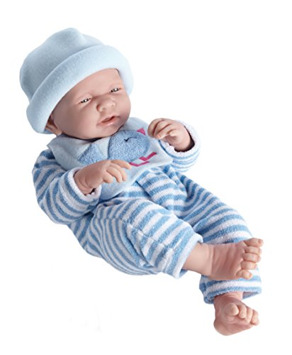 "La Newborn Boutique - Realistic 17"" Anatomically Correct Real BOY Baby Doll - All Vinyl ""BLUE BIRD"" Designed by Berenguer - Made in Spain"