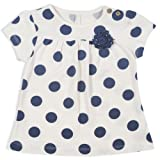Kite Kids Baby Girl Nautical Spot Short Sleeve Cotton Tunic in Ecru
