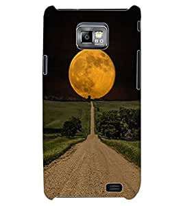 ColourCraft Moon View Design Back Case Cover for SAMSUNG GALAXY S2 I9100