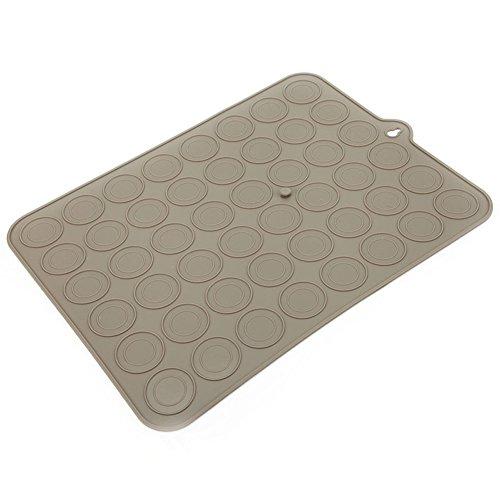 VERY100 Macaron MouleTapis Coussin de Platine silicone avec 48 cavités couleur marron