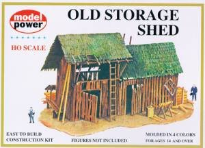 Model Power HO Scale Building Kit - Old Storage Shed