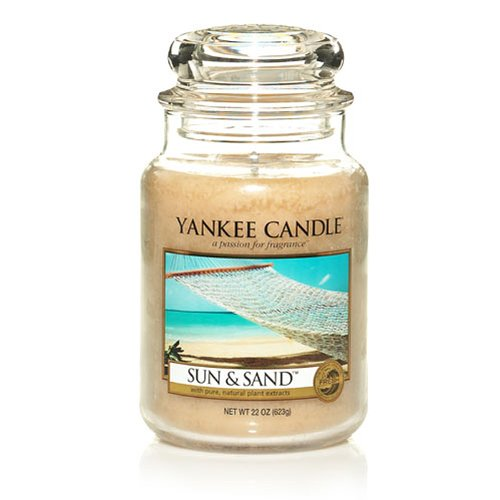 Yankee Candle 22-Ounce Jar Scented Candle, Large, Sun and Sand