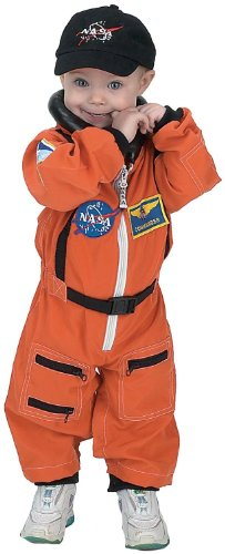 AEROMAX - NASA Jr. Astronaut Suit Orange Toddler Costume