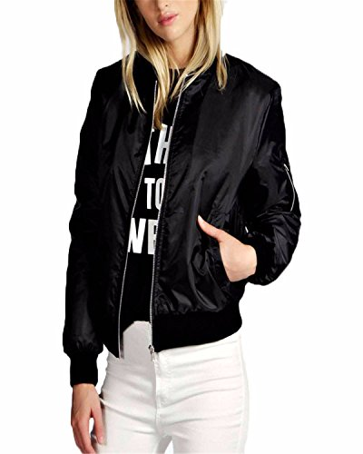 ZANZEA Women Fall Short Biker Bomber Jacket Classic Quilted Coat Outdoor Hoodies