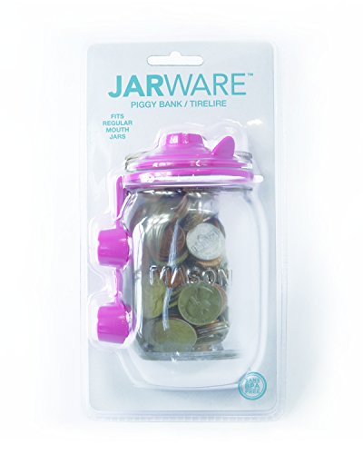 Jarware Piggy Bank, Pink