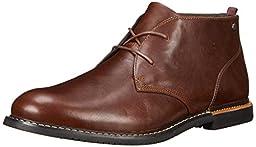 Timberland Men\'s EK Brook Park Chukka Boot,Red/Brown Smooth,10 M US