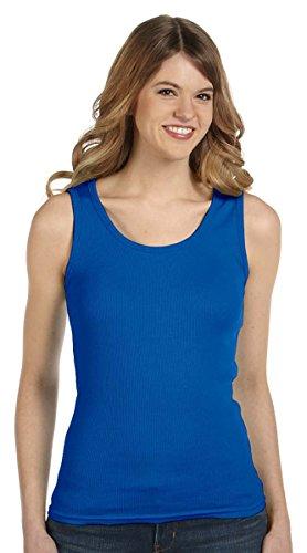 Anvil Ladies Combed Ringspun 2X1 Rib Tank Top, ROYAL BLUE, Large