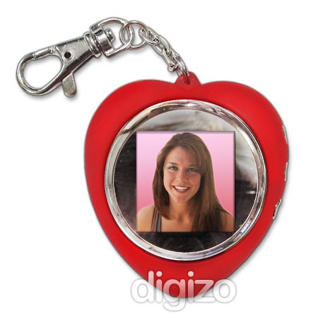 Valentines Red heart-shaped Digital Photo Frame