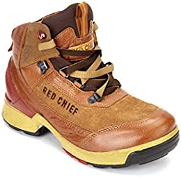 RED CHIEF Leather TAN Casual Shoe for Men B01KK2JCQK