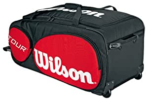 Wilson Sporting Goods Tour Tennis Traveler Bag with Wheels, Red/Black