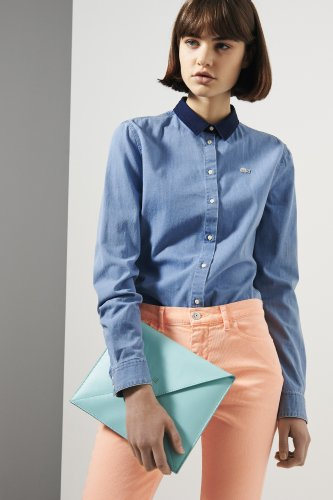 L!ve Long Sleeve Denim Shirt