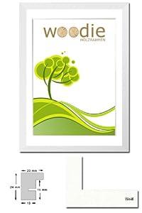 Bilderrahmen von Woodie HolzBilderrahmen Rhön 50x70 Weiß  Normalglas 2er Pack    Kundenbewertungen