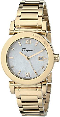 "Salvatore Ferragamo Women'S Fp1810014 ""Salvatore"" Diamond-Accented Gold-Tone Stainless Steel Watch"