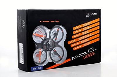 ACME - zoopa Q 165 Quadro | super Indoor-Quadrokopter | 2,4GHz, Licht | 360° Flipfunktion | 2 Geschwindigkeiten (ZQ0165)