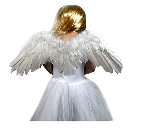 SACAS White Feather Angel Wings & FREE HALO for Kids, Toddlers