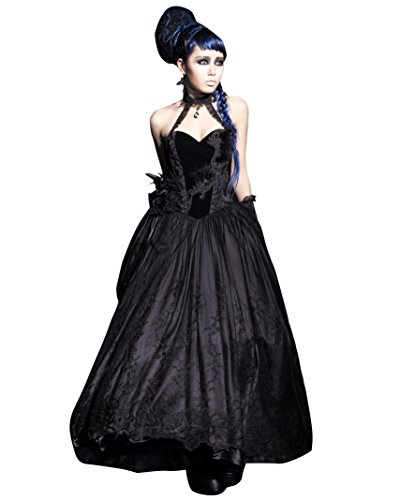 Q-184 Gothic Old-aged European Style Off Shoulder Necklace Courtly Dress (X-Large)