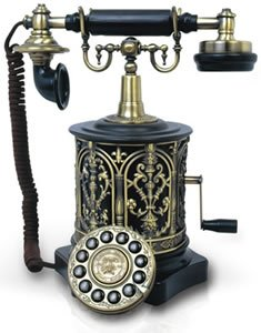 Paramount Collections Biscuit Barrel 1893 Reproduction Phone Black at Amazon.com