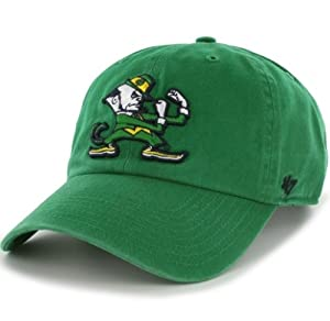 Buy NCAA Notre Dame Fighting Irish Clean Up Adjustable Cap, Kelly, One-Size by '47 Brand
