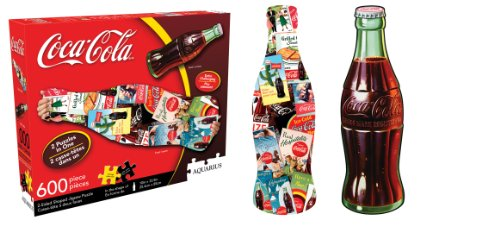 Coca Cola Bottle 2 Sided Diecut Jigsaw Puzzle, 600-Piece