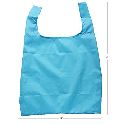 Reusable Shopping Tote - Set of 5 - Foldable Convenient Grocery Bags - by Smiley Peaches