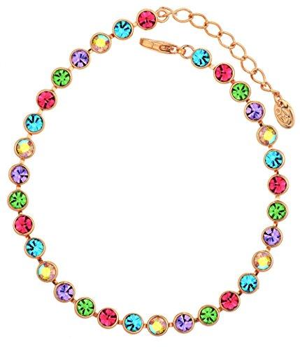 NEOGLORY-Pulsera-con-Auden-Rhinestones-Colorido-Chapado-en-Oro-Rosa-Joya-Original-Chicas-Mujeres