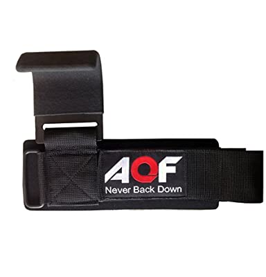 AQF Weight Lifting Training Gym Hook Grips Straps Gloves Wrist Support Lift 500lbs - FREE DELIVERY from Sports Inside