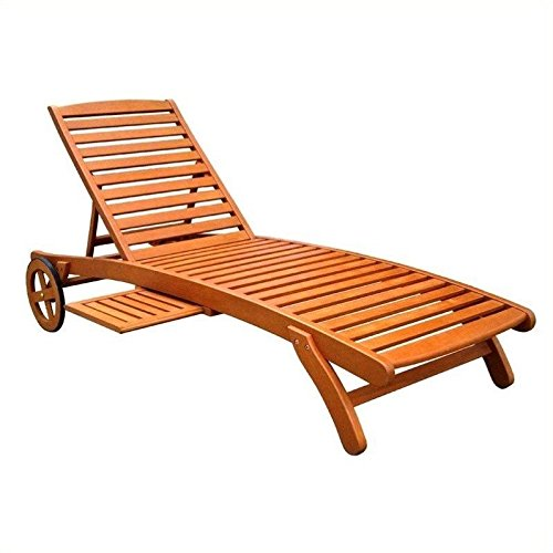 5-Postion Balau Wood Patio Chaise Lounge (Balau Wood compare prices)