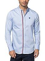 Jimmy Sanders Camisa Hombre (Azul Claro)