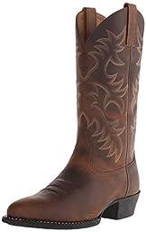 Ariat Men\'s Heritage Western R Toe Cowboy Boot, Distressed Brown, 12 D US