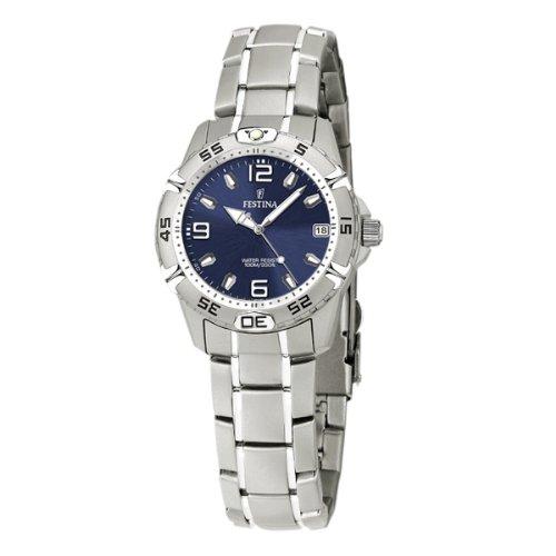 FESTINA F16172/4 - Reloj de mujer de cuarzo, correa de acero inoxidable color plata