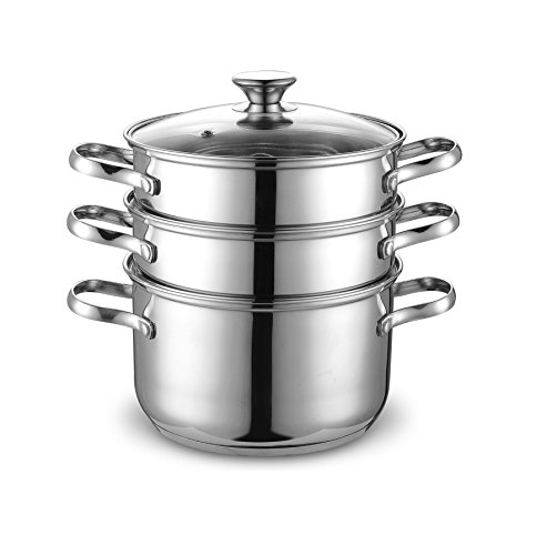 Cook N Home NC-00313 4QT(20CM) Double Boiler and Steamer Set, Stainless Steel (Chinese Steamer compare prices)