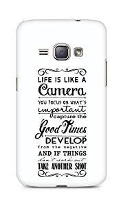 AMEZ life is like a camera Back Cover For Samsung Galaxy J1 (2016 EDITION)
