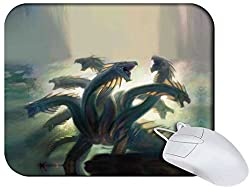 Snoogg Multi Head Dragons Non Slip Rubber Mouse Pad
