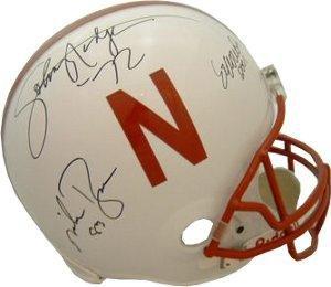 Cornhuskers Helmet Autrographed by Heisman Trophy Winners