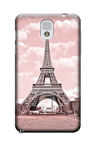 Sangu Eiffel Tower Retro Hard Back Shell Case / Cover for Samsung Galaxy Note 3 - Pink