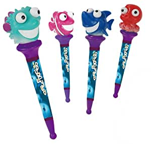 Inkology, Bug Eyes Fish Novelty Ball Point Pens, 6 pcs (163-8)