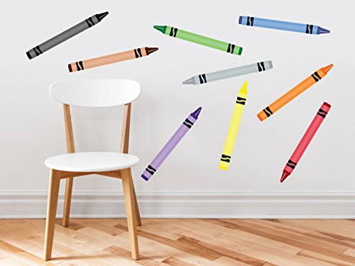 crayon-fabric-wall-decals-set-of-9-coloring-crayons-in-9-different-colors-removable-reusable-resposi