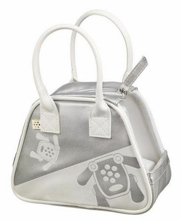 I-Dog Doggie Bag - Silver and White