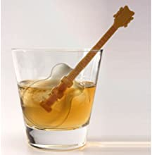 FRED Cool Jazz Ice Cube Stirs set of 3 Guitar shaped ice tray drink Stirrers Swizzle Sticks