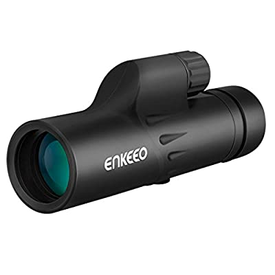 Enkeeo 8X30 Monocular Spotting Scope with Tripod, Fully Multi-Coated Telescope, Single Hand Focus for Bird Watching, Sports Events, Concerts, Hunting, Surveillance from ENKEEO